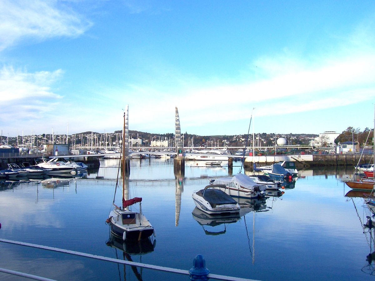 Torquay harbour, a five or six minute walk from The Hesketh Crescent Apartment and home to dozens of bars, cafes and restaurants.