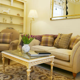 The sitting Room at the Hesketh Crescent Holiday Rental in Torquay
