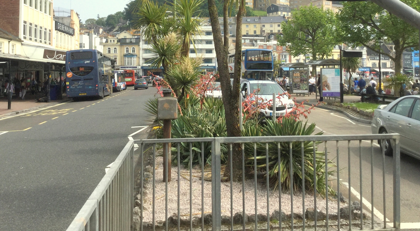 Torquay harbour, the main hub for bus services across The English Riviera and south Devon.