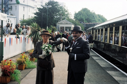 Agatha Christie born in Torquay. The meeting of Poirot and Marple.