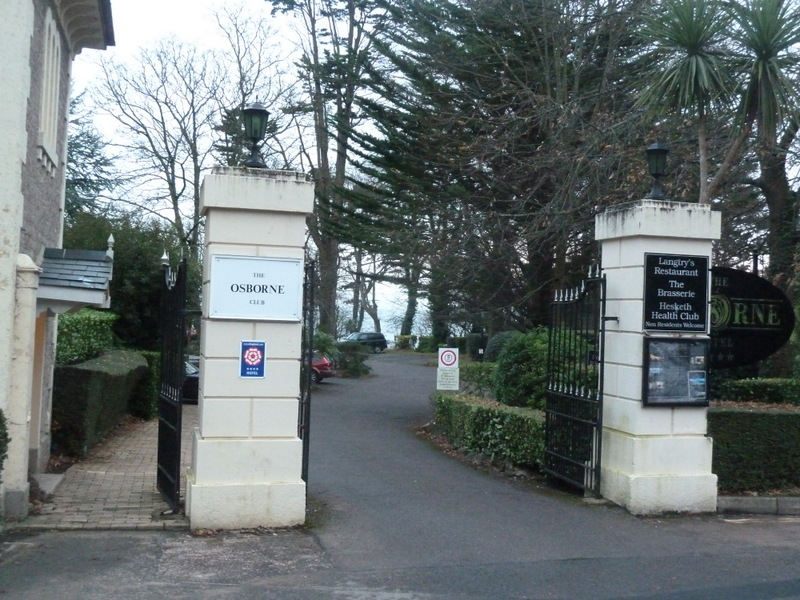 The entrance to Hesketh Crescent in Torquay where the Hesketh Crescent Apartment is located.