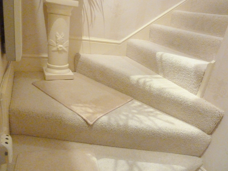 The stairs inside The Hesketh Crescent Apartment in Torquay